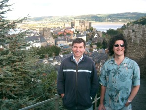 Me (right) at Conwy Castle, Wales.