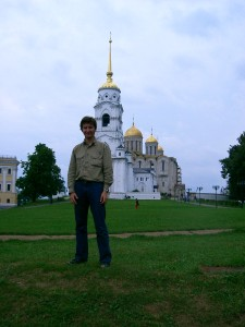 Me at an ancient church in Vladimir, Russia.