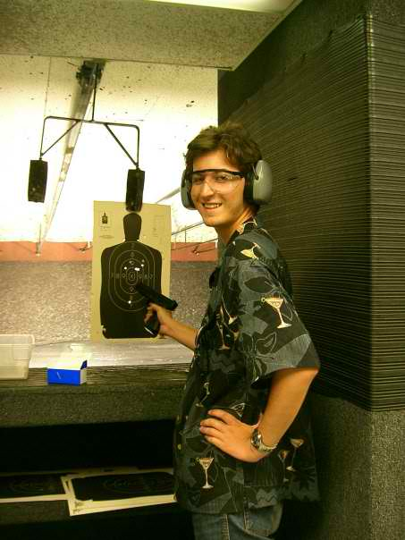 Me at a California shooting range. Probably 2006.