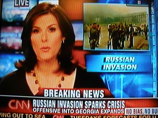 Western news channels unleashed a barrage of propaganda during the South Ossetian War, portraying it as an unprovoked Russian invasion of free democratic Georgia.