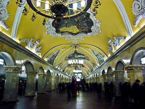 Komsomolskaya Station, not the type of Metro station one would expect.