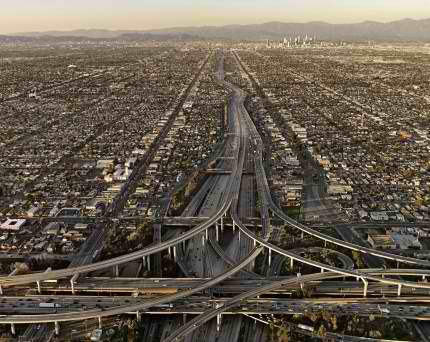 Los Angeles, the epitome of suburban sprawl and poor city planning.