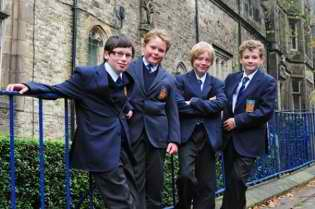 The uniforms at Lancaster Royal Grammar School.