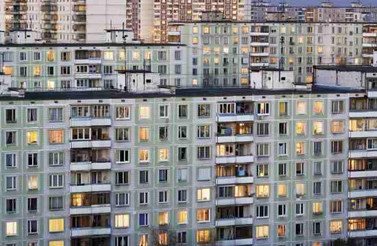 A typical Russian cityscape.