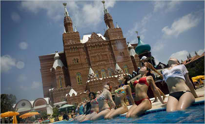 One Turkish resort even built a replica Red Square for Russian tourists.