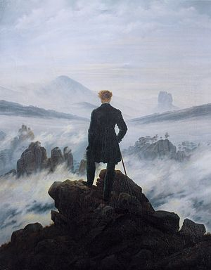 Transhuman on the dark mountain - Romanticism.