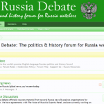 The Russia Debate – The New Forum For Russia Watchers