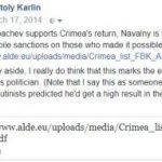 Navalny and Sanctions