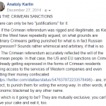 On the Crimean Sanctions