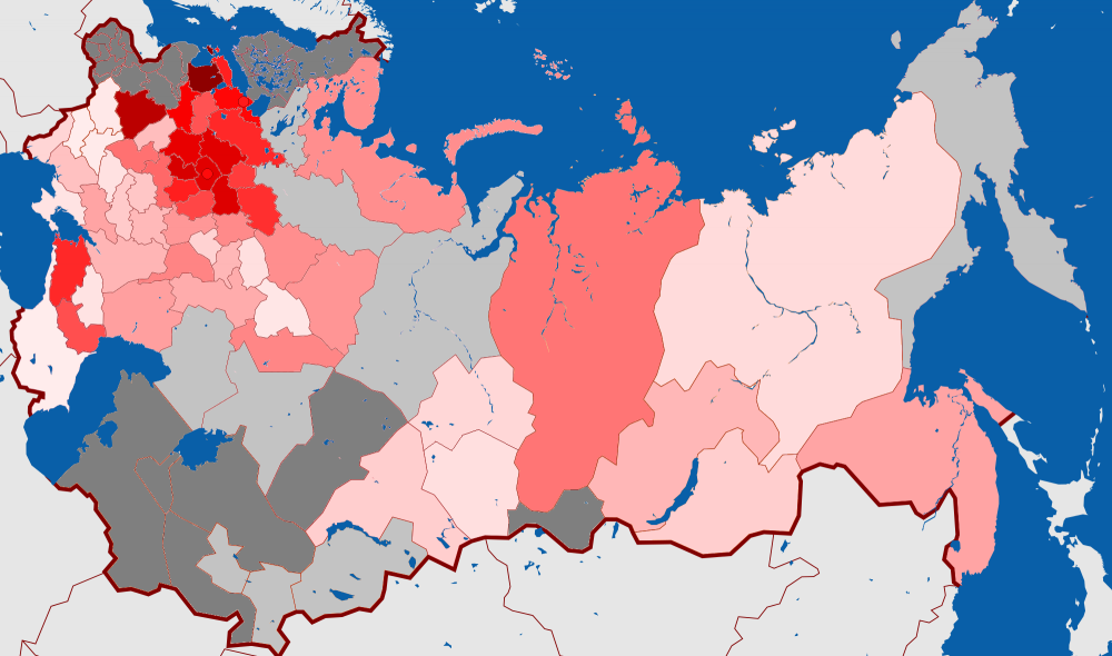 Russia Map 1917.Map Russia Constituent Assembly Election 1917 Bolsheviks