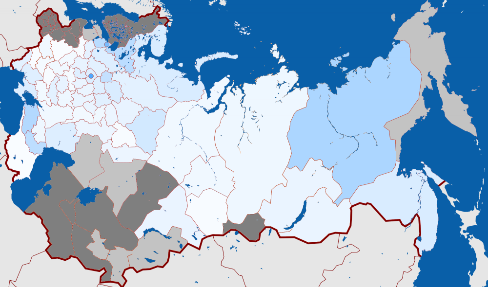 Russia Map 1917.Map Russia Constituent Assembly Election 1917 Kadets