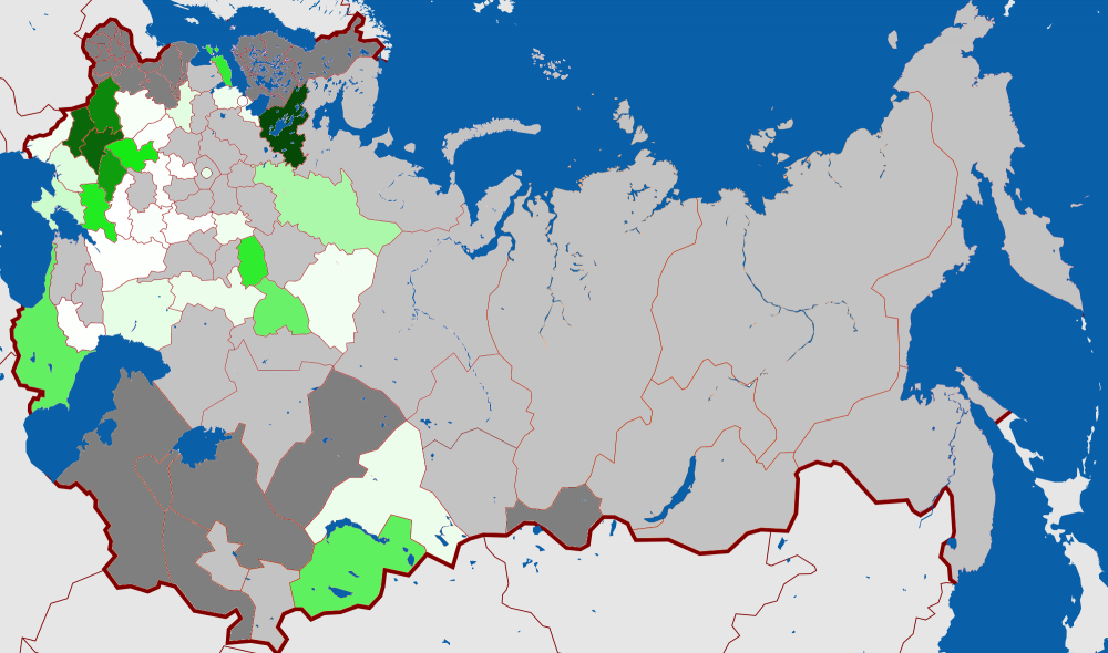 Russia Map 1917.Map Russia Constituent Assembly Election 1917 Local Socialists